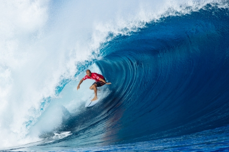 Kelly Slater during his round four heat.